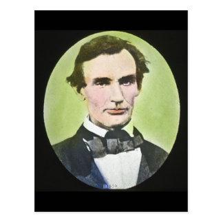 Plaque en verre de guerre civile d'Abraham Lincoln Carte Postale