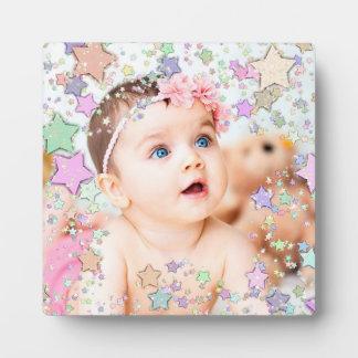 Plaque entourée par étoile de photo de bébé