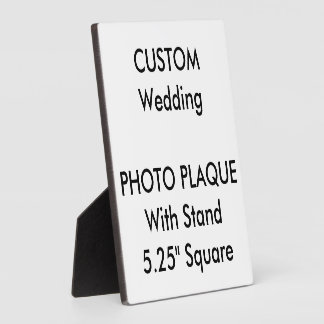 """Plaque faite sur commande 5,25"""" de photo carré plaques d'affichage"""