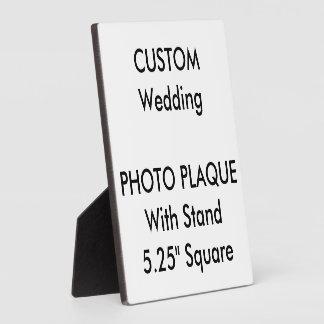 """Plaque faite sur commande 5,25"""" de photo de plaques d'affichage"""
