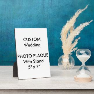 """Plaque faite sur commande 5"""" de photo de mariage x photo sur plaque"""