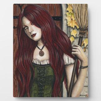 Plaque gothique d'art d'imaginaire de sorcière