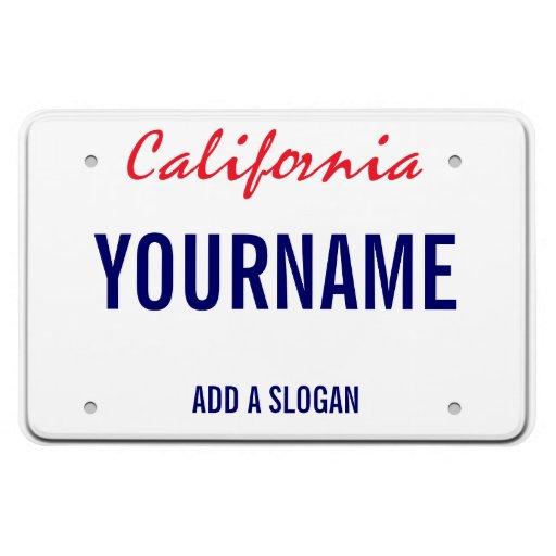 Plaque minéralogique de la Californie (personnalis Magnets Rectangulaires