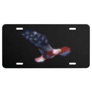 Plaque minéralogique patriotique d'Eagle chauve