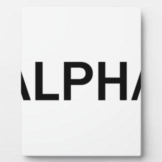 Plaque Photo Alpha (NOIR)