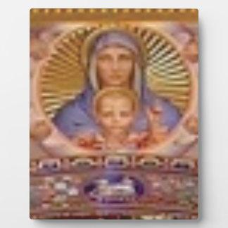 Plaque Photo art de Mary et d'enfant