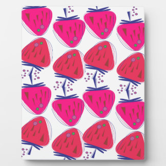 Plaque Photo Baies roses de conception sur le blanc
