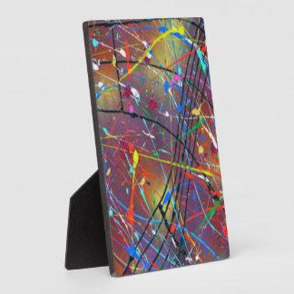 Plaque Photo Baisses colorées de bruine de peinture