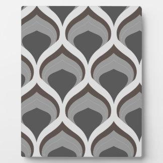 Plaque Photo baisses géométriques grises