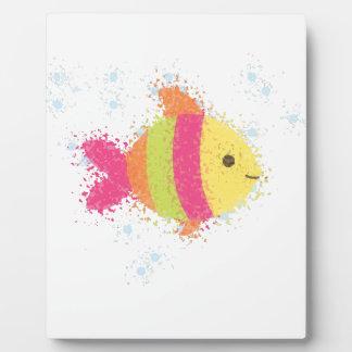 Plaque Photo Bande dessinée mignonne de poissons