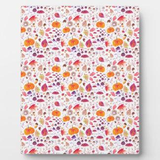 Plaque Photo Bonjour automne