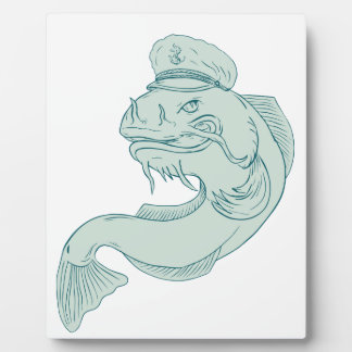 Plaque Photo Capitaine Catfish Drawing