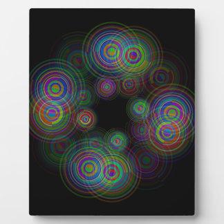 Plaque Photo Cercles géométriques abstraits