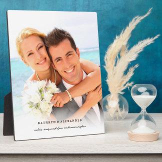 Plaque Photo Chevalet blanc simple classique de photo de