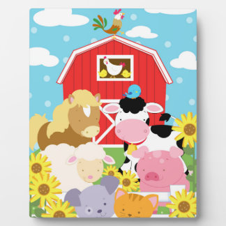 Plaque Photo Chevalet d'art de bébé d'animal de ferme