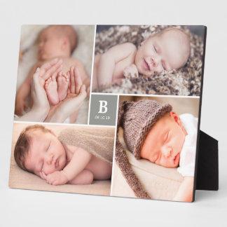Plaque Photo Chevalet intemporel de photo de naissance de bébé