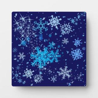 Plaque Photo Chutes de neige de nuit de Noël
