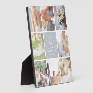 Plaque Photo Collage de photo de monogramme de mariage