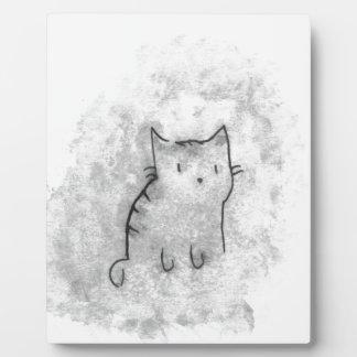 Plaque Photo Conception de chat d'aquarelle