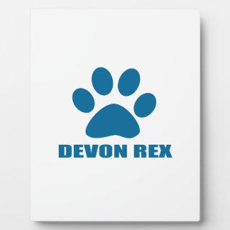 PLAQUE PHOTO CONCEPTIONS DE CAT DE REX DE DEVON