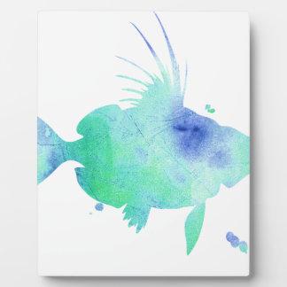 Plaque Photo Copie faite sur commande de poissons d'Aqua de