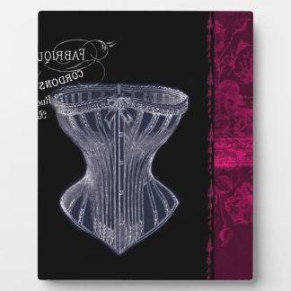 Plaque Photo corset vintage moderne de cru de Paris de la
