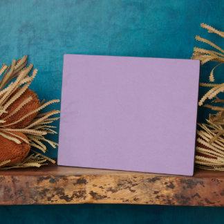 Plaque Photo Couleur mauve-clair texturisée