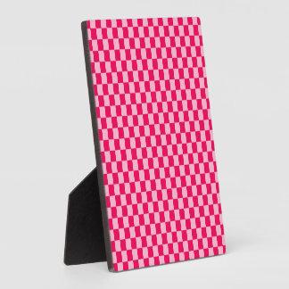 Plaque Photo Damier classique de combinaison rose par STaylor