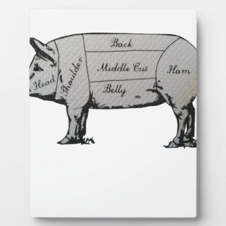 Plaque Photo Diagramme de porc