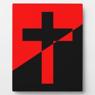 Plaque Photo Drapeau chrétien de christianisme d'anarchie