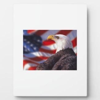Plaque Photo Drapeau des USA avec fierté d'Eagle