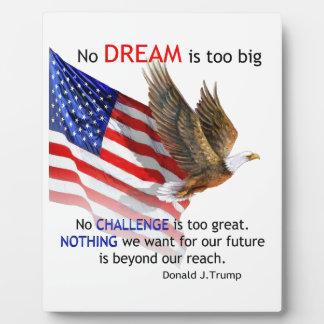 Plaque Photo Drapeau et citation d'atout d'Eagle Donald J