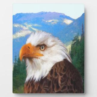 Plaque Photo Eagle chauve 8x10 avec le chevalet