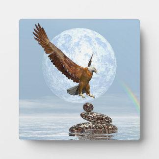 Plaque Photo Eagle débarquant sur les pierres équilibrées - 3D