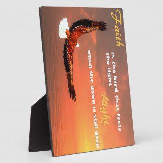 Plaque Photo Eagle volant au soleil - 3D rendent