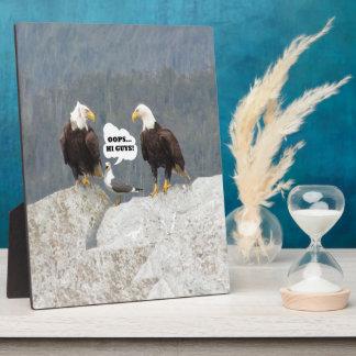 Plaque Photo Eagles et mouette drôles
