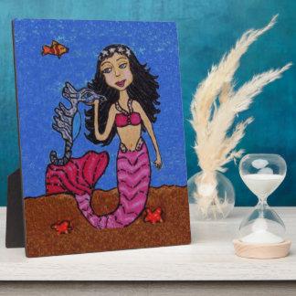 Plaque Photo Étoiles de mer roses d'hippocampe de queue de