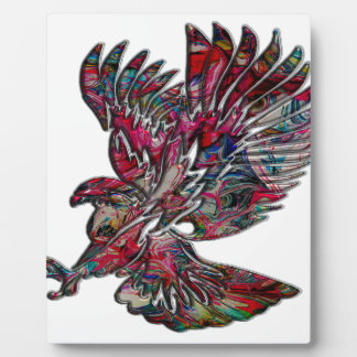 Plaque Photo Faux abstrait Eagle tribal métallique