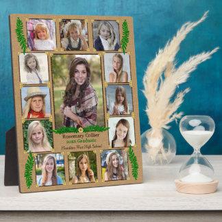 Plaque Photo Fougère de toile de jute du collage   de photo