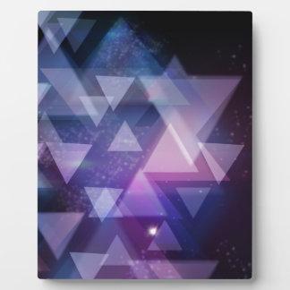 Plaque Photo géométrique