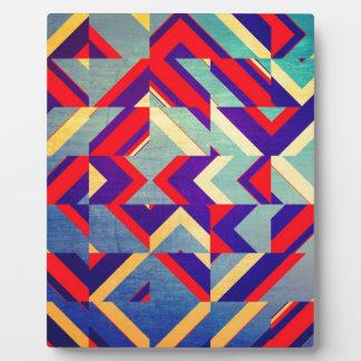 Plaque Photo Géométrique coloré