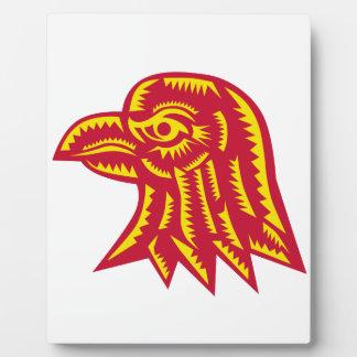 Plaque Photo Gravure sur bois latérale principale en Eagle