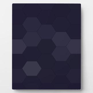 Plaque Photo Hexagones noirs