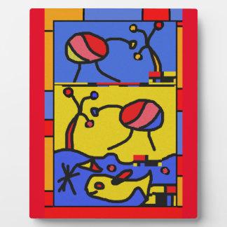 Plaque Photo Image avec l'art moderne de poissons
