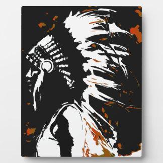 Plaque Photo Indien d'Amerique indigène