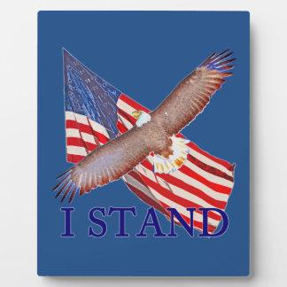 Plaque Photo je représente l'Amérique
