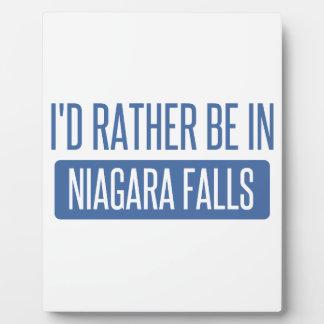 Plaque Photo Je serais plutôt dans les chutes du Niagara