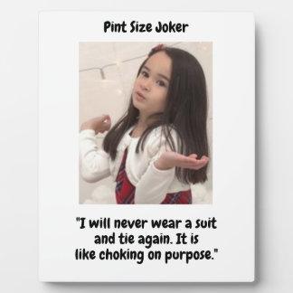 Plaque Photo Joker de taille de pinte : Obstruction sur le