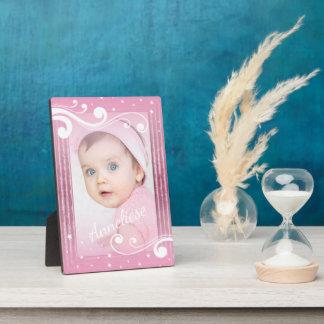 Plaque Photo Jolie photo de bébé avec le nom