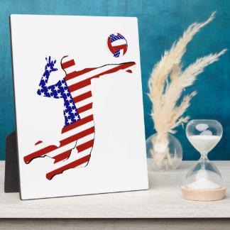 Plaque Photo Joueur de volleyball cent pour cent américain